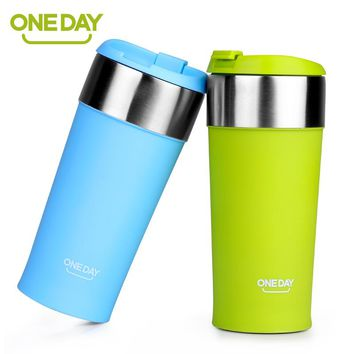 400ml Coffee Cup Stainless Steel Mug Coffee Cup ThermoMug Insulated Thermal Mugs Auto Car Heating Tea Milk Travel Tumbler