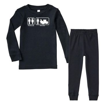 Drums - Problem Solved - Mens Funny Infant long sleeve pajama set