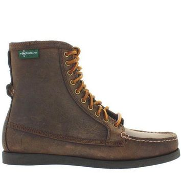 VONES2C Eastland Up Country 1955 - Tan Leather Rawhide Lace-Up Moc Boot