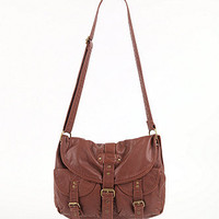 Black Poppy Double Front Pocket Satchel Bag at PacSun.com