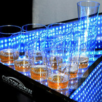 Metal Frame Flashing LED Beer Pong Table