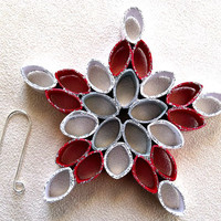 handmade paper quilled  Christmas snowflake ornament