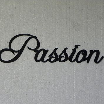 Passion Word Metal Wall Art Home Decor