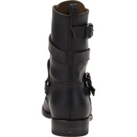 Wraparound Buckle-Strap Ankle Boots