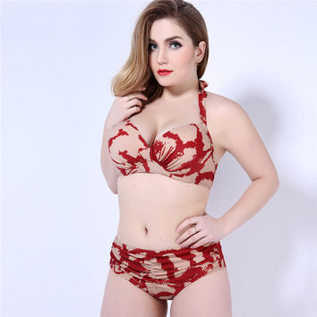 Summer New Arrival Sexy Swimsuit Hot Beach Plus Size Ladies Swimwear With Steel Wire Bikini [6532885063]