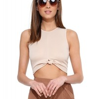 Tic Toc Knot Crop Top