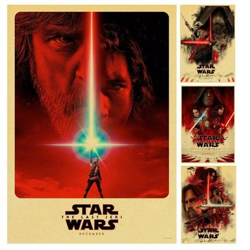 Star Wars 8 Posterr The Last Jedi Kraft Paper Retro Poster Bar Vintage decorative Printing Drawing core Painting wall sticker