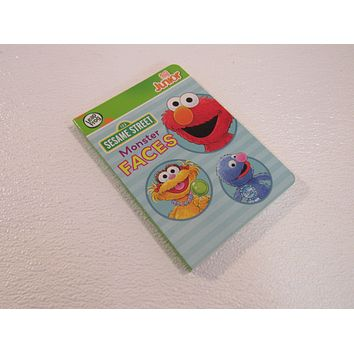 Leap Frog Sesame Street Monster Faces Tag Junior Board Book -- Used