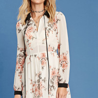 Contemporary Floral Mini Dress