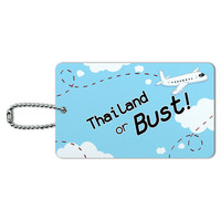 Thailand or Bust - Flying Airplane ID Card Luggage Tag