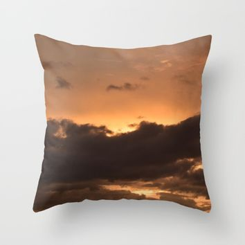 Costa Rican Sunset Throw Pillow by UMe Images