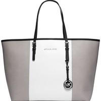 MICHAEL Michael Kors Jet Set Travel Center Stripe Medium Tote