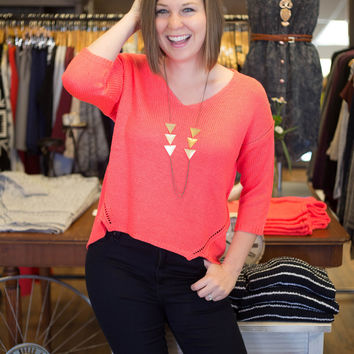 Neon Coral Sweater
