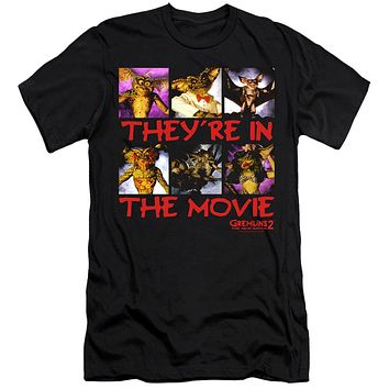 Gremlins 2 Premium Canvas T-Shirt They're in the Movie Black Tee