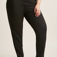 Plus Size Belted Paperbag Pants