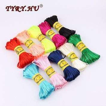 TYRY.HU 20M/Bundle Soft Nylon Cord Solid Rope For Jewelry Making Bracelet Necklace Baby Pacifier Chain Accessories Multicolor