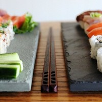 Sushi & Chopstick Plate Set for Two - 2 colors
