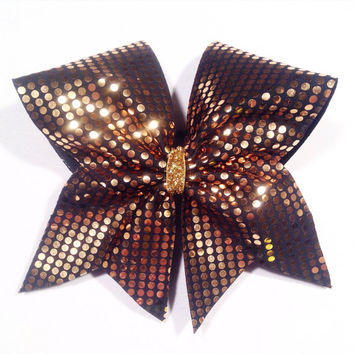 Mirrored Marvel Cheer Bow - Gold