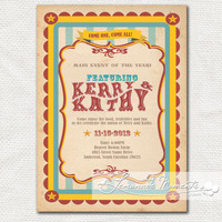 Vintage Carnival / Circus Invitation Printable by lemonademoments