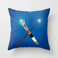 Doctor Who/Harry Potter. Throw Pillow by Dominic Tyler | Society6