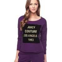 Black Cherry Juicy Couture La Graphic Track Pullover by Juicy Couture,