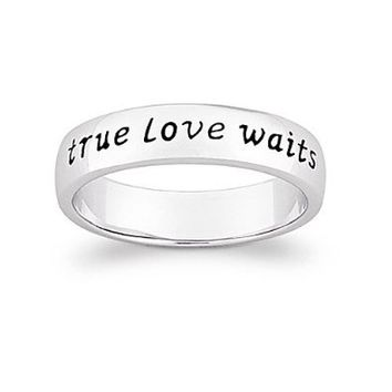 Limoges Jewelry Sterling Silver true love waits Purity Sentiment Ring: Jewelry