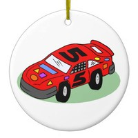 Stock Car Racing Christmas Ornament