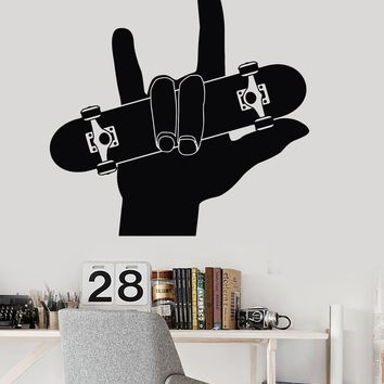 Vinyl Wall Decal Skateboard Teen Room Sports Skateboarding Stickers Unique Gift (ig3329)
