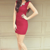 You Belong To Me Dress: Maroon