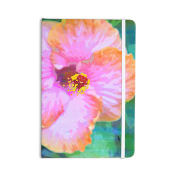 "Sylvia Cook ""Hibiscus"" Green Pink Everything Notebook"