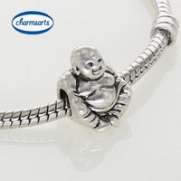 Flower Charm Beads Dog Silver Charms Christmas Gift Beads Fit European Charm Bracelets & Necklaces