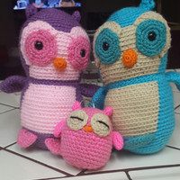 owl family any choice of color.