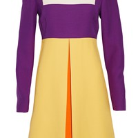 Color-block wool and silk-blend mini dress | VALENTINO | Sale up to 70% off | THE OUTNET