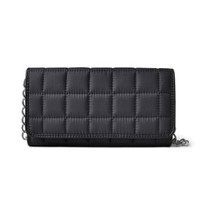 Quilted Matte Black Clutch