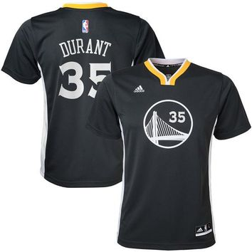 Youth Golden State Warriors Kevin Durant Charcoal Alternate Replica Jersey