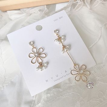 Summer fresh long female new wave small earrings