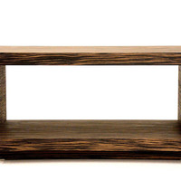 Modern Wood Bench Ebony Quartered Bench Bedroom Bench Coffee Table Mud Room Bench Entry Hallway Bench Side Table Foyer Stand Console
