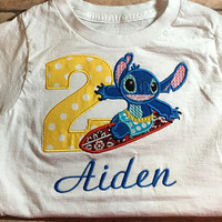 Stitch Birthday Shirt Lilo and Stitch, birthday girl, birthday boy, birthday, Stitch