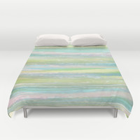 Faraway Shores Duvet Cover by ALLY COXON