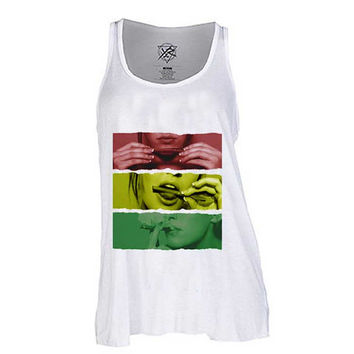 Rasta girl   for Tank Top Mens and Tank top Girls