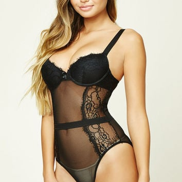 Lace Push-Up Bodysuit