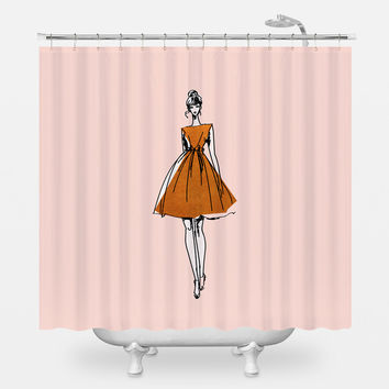 Little Copper Dress Shower Curtain
