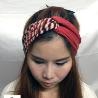 Headband Rope Warp Red Style Beautiful Abstract Covered Elastic for Women Warp