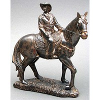 Bronze look Cowboy on Horse