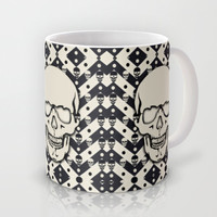 Hipster Chevron Skull Mug by Kristy Patterson Design