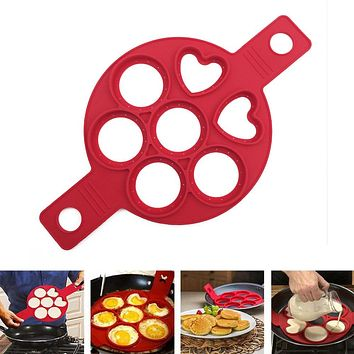 Behokic Perfect NonStick Silicone Cooking Tool Egg Cake Pancakes Pan Flip Breakfast Maker Cheese Cooker Eggs Mold Baking Tools
