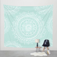 Mandala Wall Tapestry by Rambutan Designs
