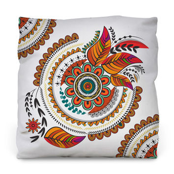 Autumn Mandala Outdoor Throw Pillow