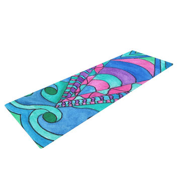 "Rosie Brown ""Gatsby Inspired"" Blue Pink Yoga Mat"