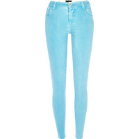 River Island Womens Turquoise Amelie superskinny jeans